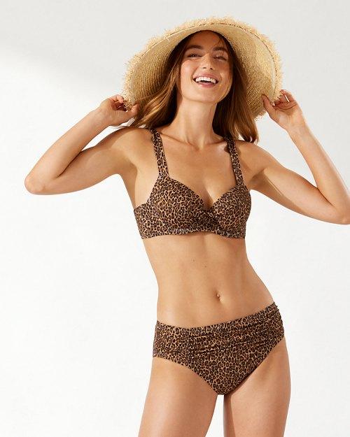 Sun Cat Underwire Wrap-Front Bikini Top