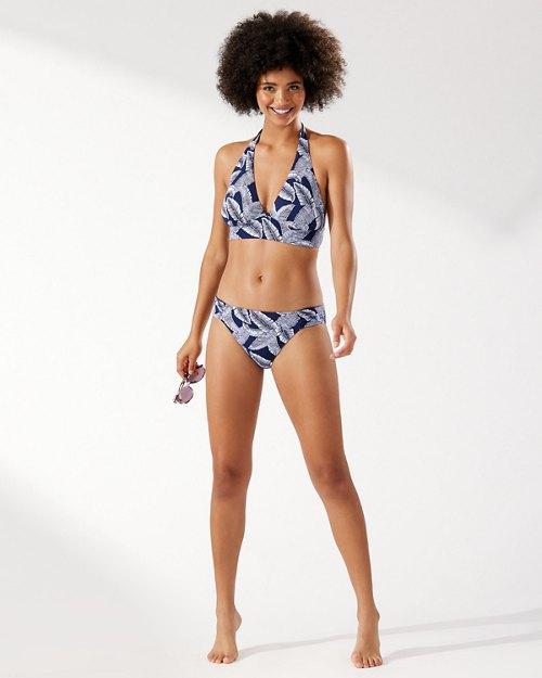 Island Cays Palms Reversible Halter Bikini Top