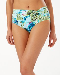 Sun-Kissed Tropics High-Waist Bikini Bottoms