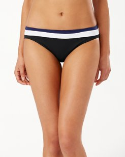 Island Cays Colorblock Reversible White Hipster Bikini Bottoms