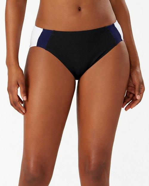 Island Cays Colorblock High-Waist Bikini Bottoms