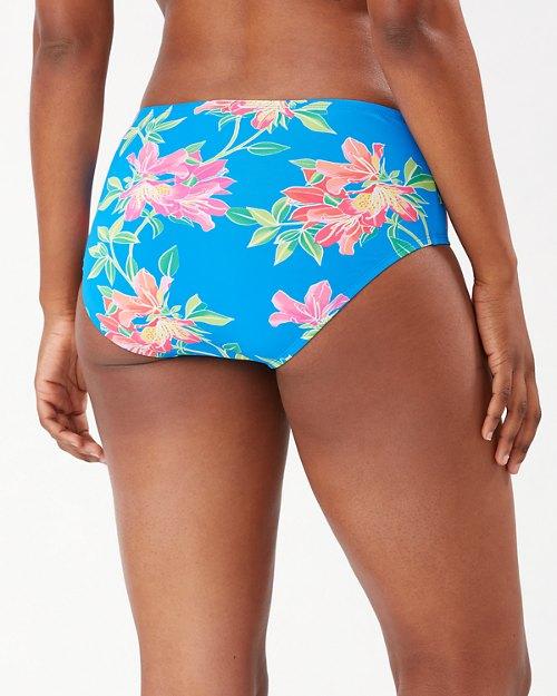 Sun Lilies High-Waist Twist-Band Bikini Bottoms