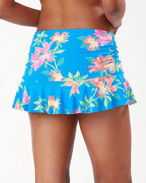 Sun Lilies High-Waist Skirted Bikini Bottoms