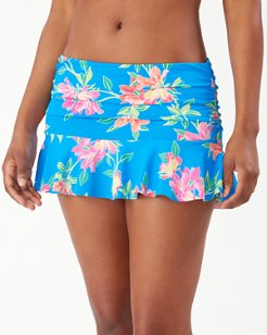 Sun Lilies High-Waist Skirted Bikini Bottoms
