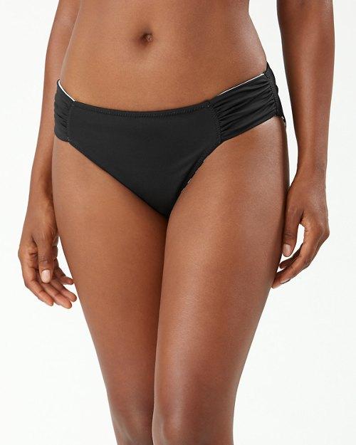 Breaker Bay Stripe Reversible Side-Shirred Hipster Bikini Bottoms