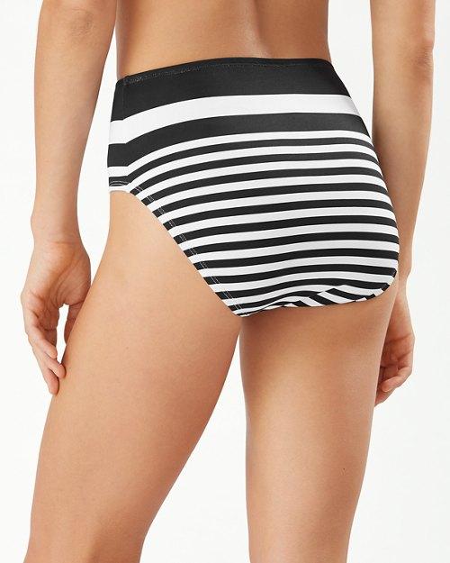 Breaker Bay Stripe Engineered High-Waist Bikini Bottoms