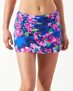 Bougainvillea High-Waist Skirted Bikini Bottoms