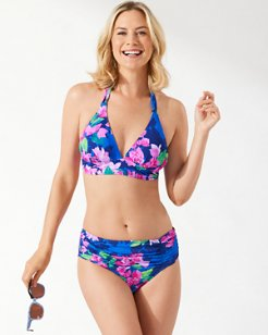 Bougainvillea High-Waist Bikini Bottoms
