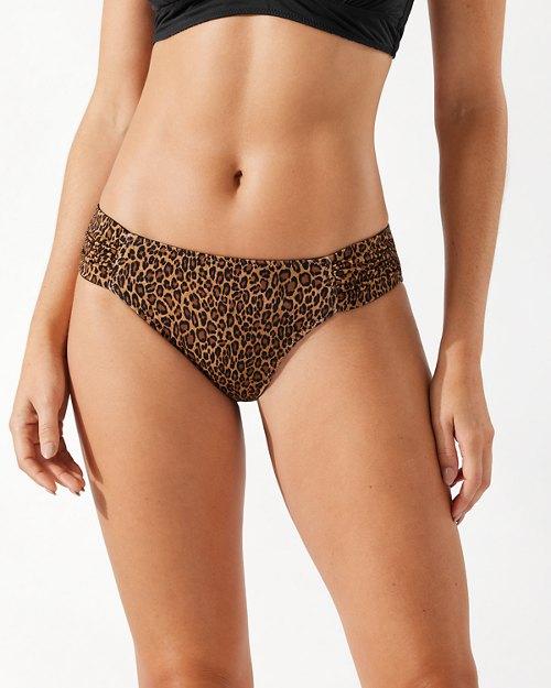 Sun Cat Reversible Side-Shirred Hipster Bikini Bottoms