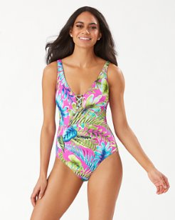 Sun-Kissed Tropics Reversible Laced-Back One-Piece Swimsuit
