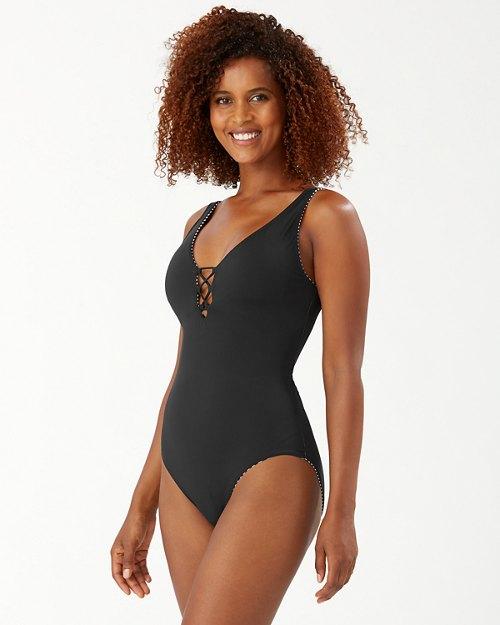 Breaker Bay Stripe Reversible One-Piece Swimsuit