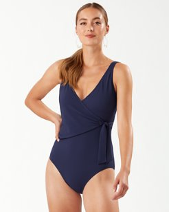 Island Cays Wrap-Front One-Piece Swimsuit