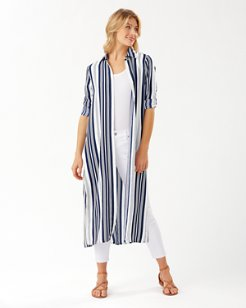 Tan Lines Stripes Midi Duster