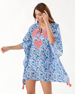 Woodblock Blossoms Embroidered Tunic