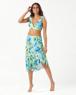 Sun-Kissed Tropics Flounce Skirt