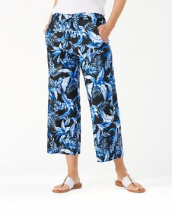 Indigo Garden Cropped Pants