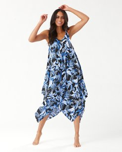 Indigo Garden Scarf Dress