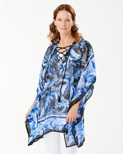 Indigo Garden Lace-Up Tunic