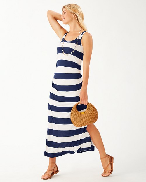 Beach Block Stripe Maxi Dress