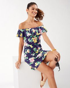 Sun Lilies Off-the-Shoulder Ruffle Dress