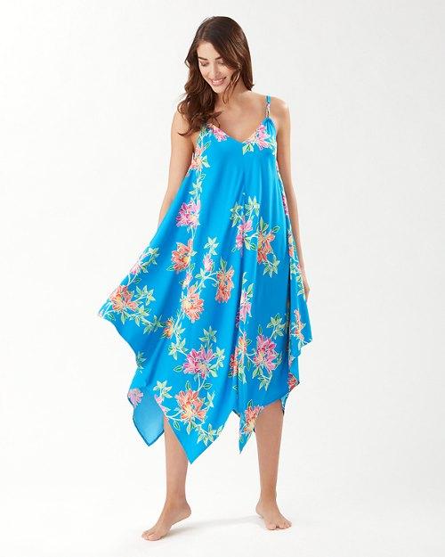 Sun Lilies Double-Strap Scarf Dress