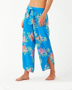 Sun Lilies Wrap-Front Beach Pants