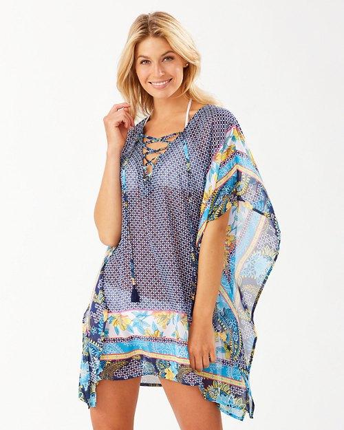 Sun Lilies Lace-Up Tunic