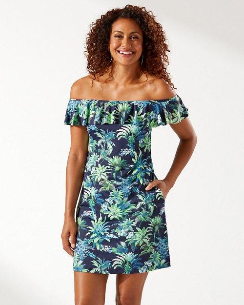 Art Of Palms Off-The-Shoulder Dress