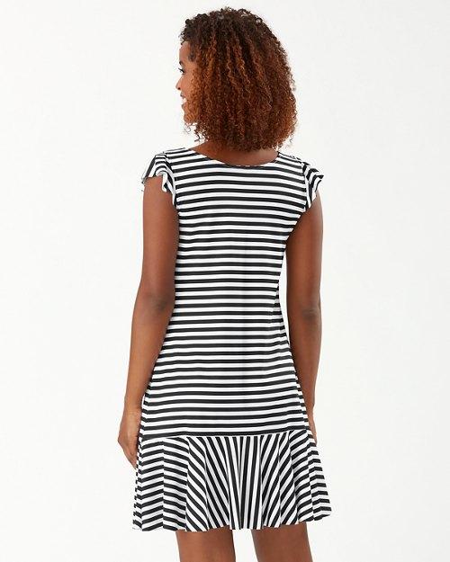 Breaker Bay Stripe Flounce Spa Dress