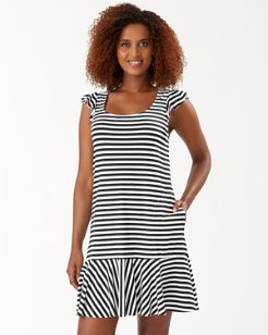 Breaker Bay Stripe Flounce Spa Dress