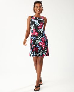 Midnight Orchid High-Neck Dress