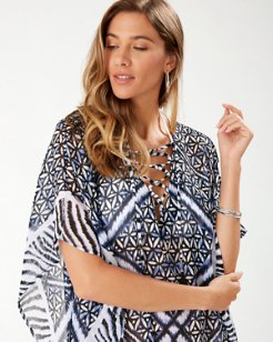 Zanzibar Zebra Engineered Lace-Up Tunic