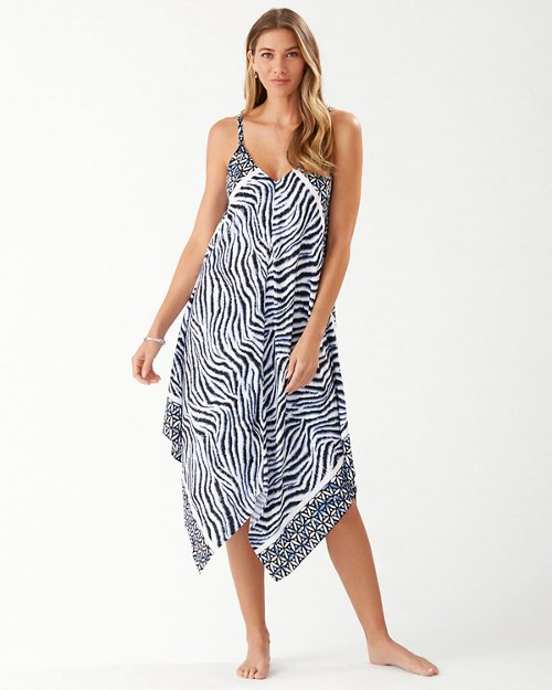 Zanzibar Zebra Engineered Scarf Dress