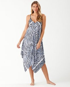 Zanzibar Zebra Engineered Scarf Dress