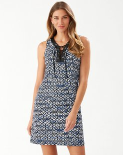 Zanzibar Zebra Lace-Up Dress