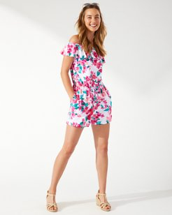 Bougainvillea Off-the-Shoulder Romper
