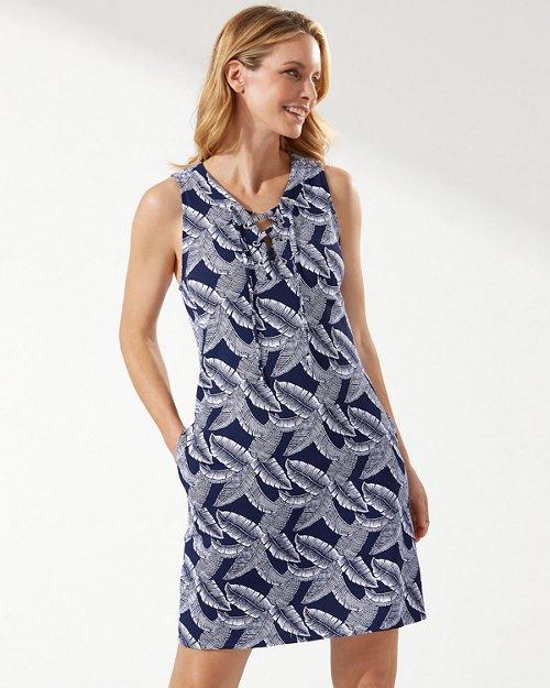 Island Cays Palms Lace-Up Dress