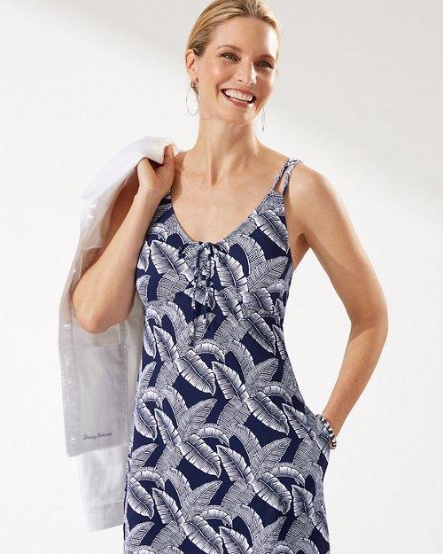 Island Cays Palms V-Neck Dress