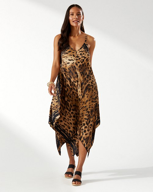 Sun Cat Engineered Scarf Dress