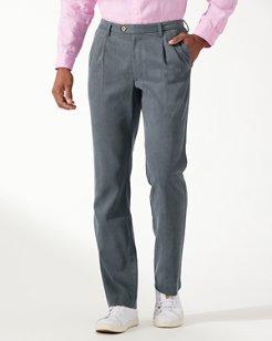 Havana Herringbone Pleated Pants