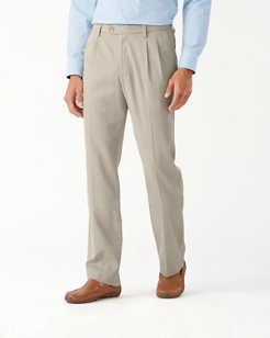 Havana Herringbone Pleated Pants