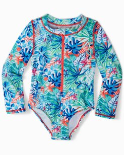 Toddler Palm Party One-Piece Rash Guard