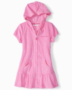 Little Girls' Hooded Coverup Dress