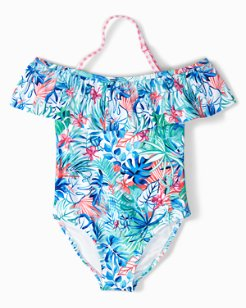 Little Girls' Palm Party One-Piece Swimsuit