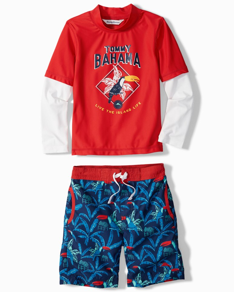 Main Image for Little Boys' Toucan Retreat Rash Guard Set