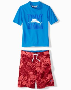 Little Boys' Playful Playa Rash Guard Set