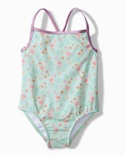Baby Flamingo Fun One-Piece Swimsuit