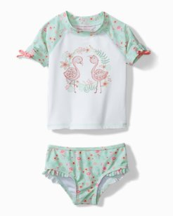 Baby Flamingo Fun Rash Guard Swim Set