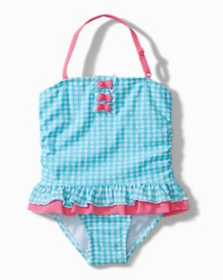 Baby Gingham One-Piece Swimsuit