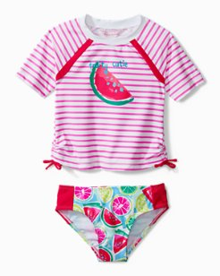 Toddler Mixed Fruit Rash Guard Swim Set